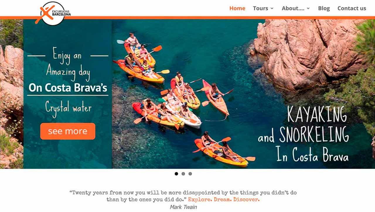 Página web Excursions Barcelona