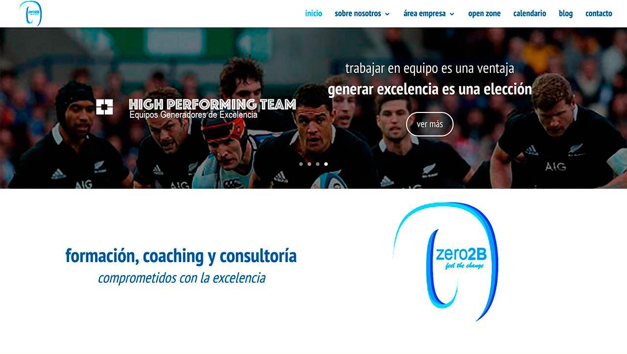 Página web de Zero2B